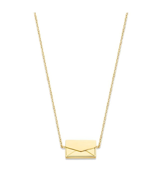 Take What You Need Secret Message Necklace gold toned