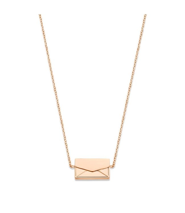 Take What You Need Secret Message Necklace rosegold toned