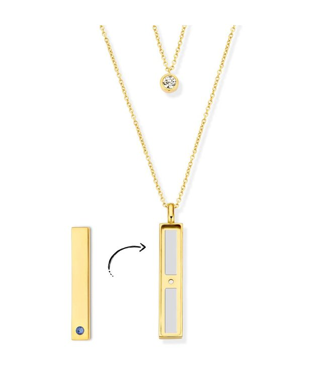 Take What You Need Sky Necklace gold toned (no bar included)