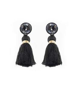 Souvenirs de Pomme Oorbellen Tassie Toffee Black