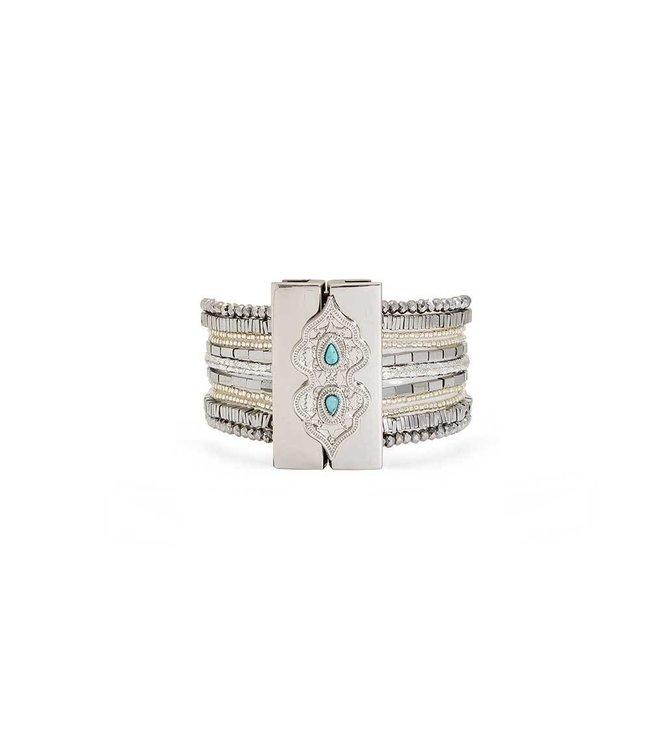 Hipanema Armband Santafe Silver