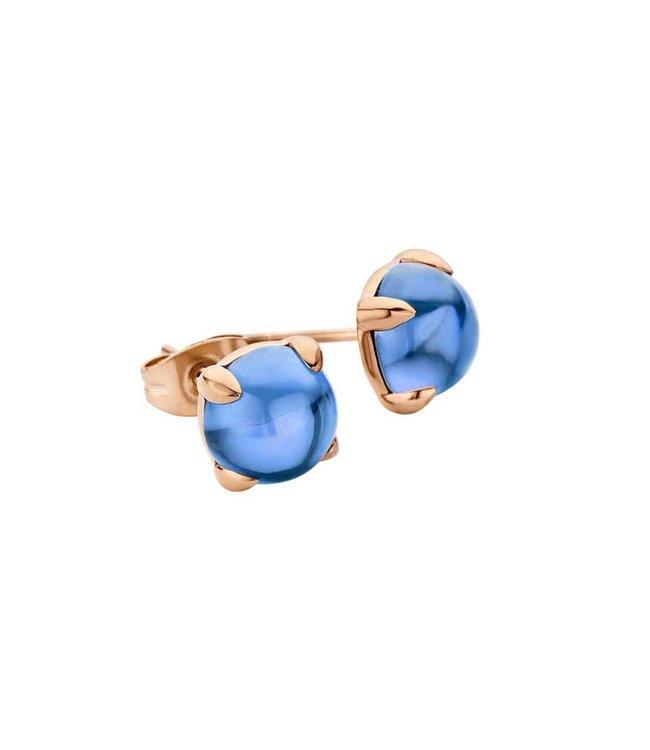 Melano Oorstekers Friends Adele Jeans Blue rosegoud