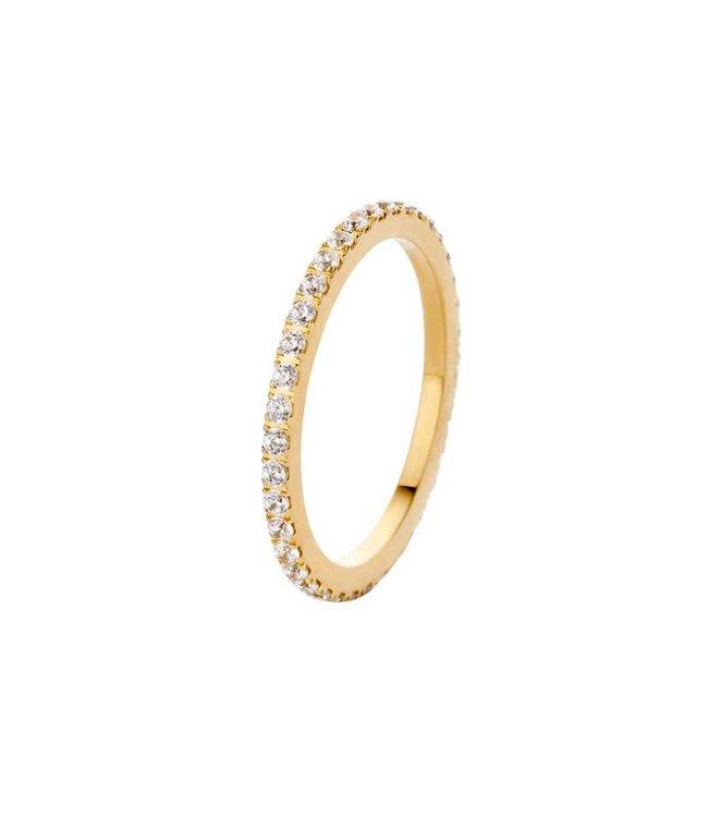 Melano Ring Sade Goud Crystal
