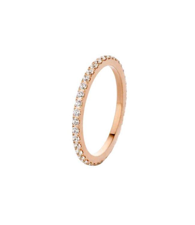Melano Ring Sade Rosegoud Crystal