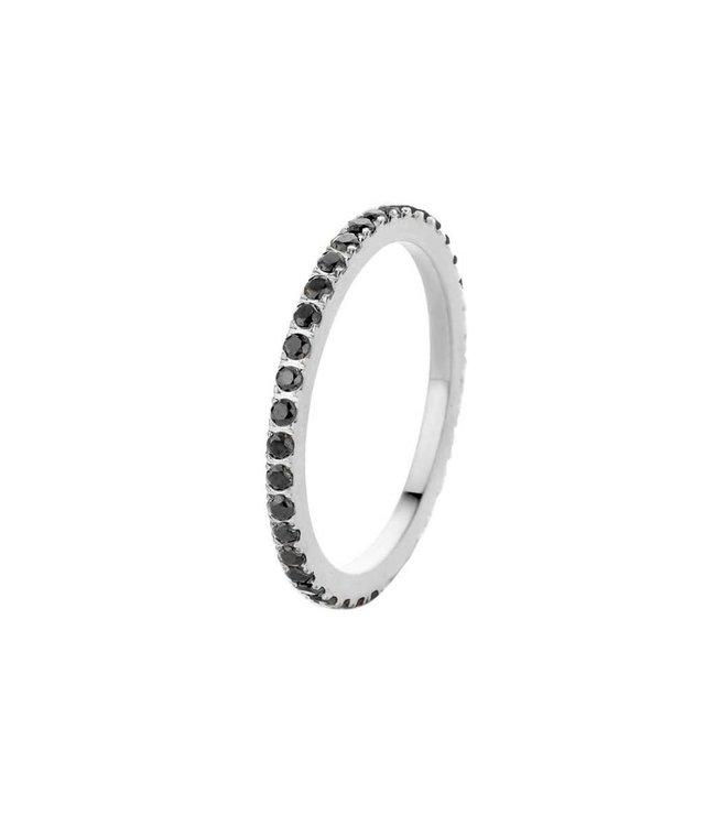 Melano Ring Sade Zilver Black