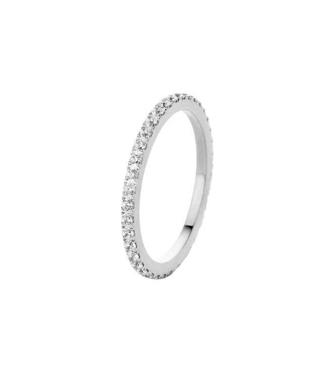 Melano Ring Sade Zilver Crystal