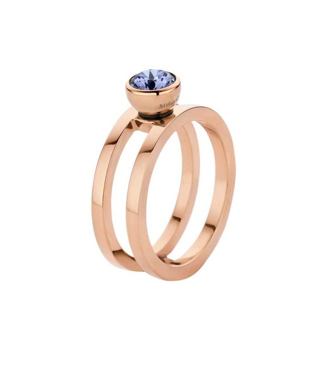Melano Ring Twisted Trista Rosegoud