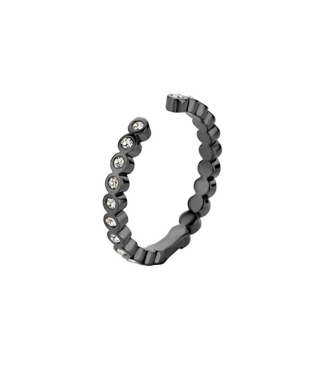 Melano Ring Twisted Tina CZ Black