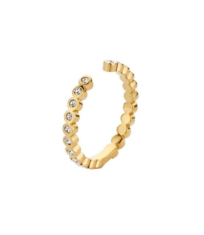Melano Ring Twisted Tina CZ Goud