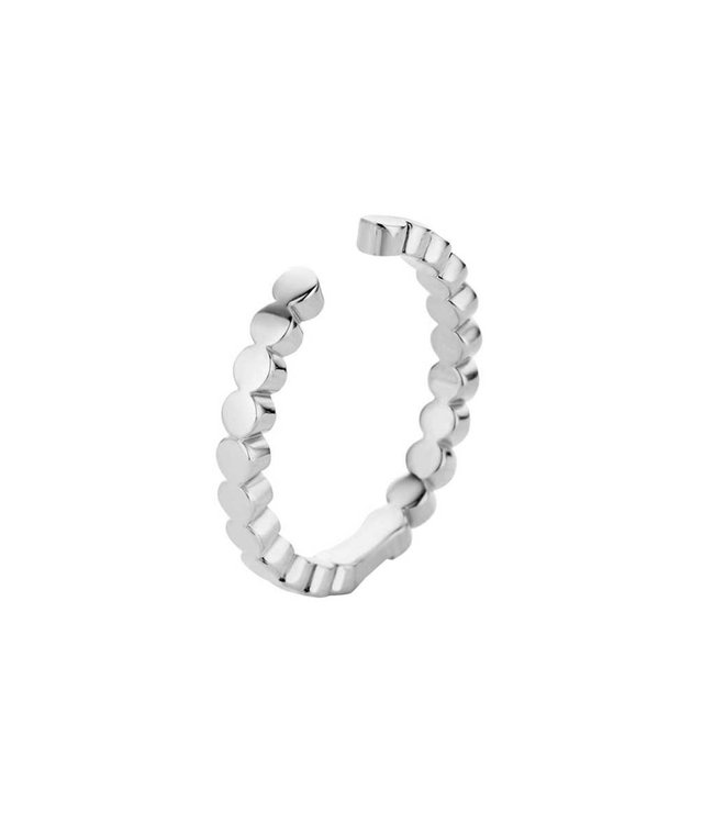 Melano Ring Twisted Tina Zilver