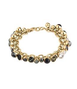 Melano Twisted Charm Bracelet Goud