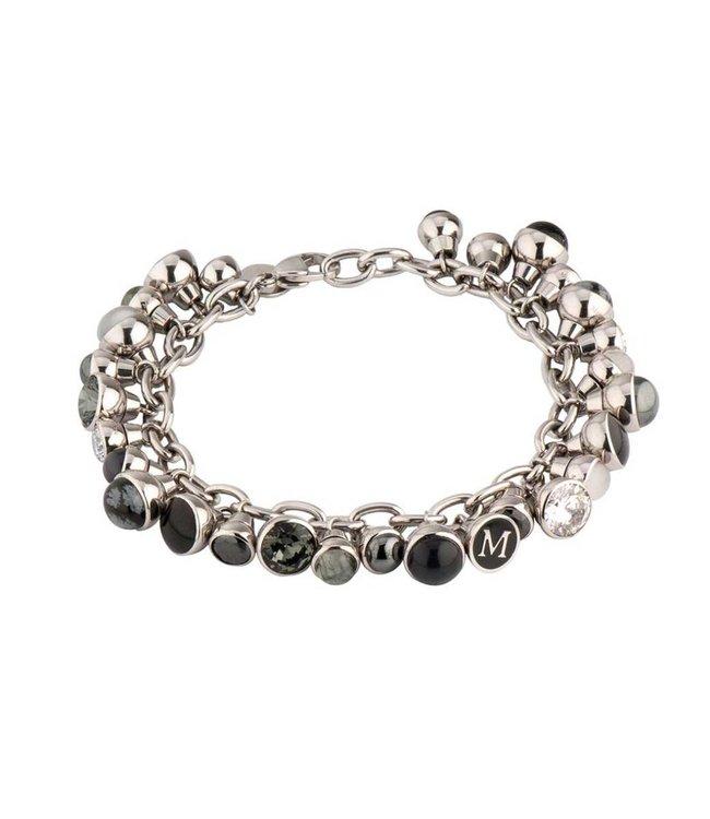 Melano Twisted Charm Bracelet Zilver