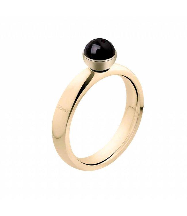 Melano Twisted Ring Goud
