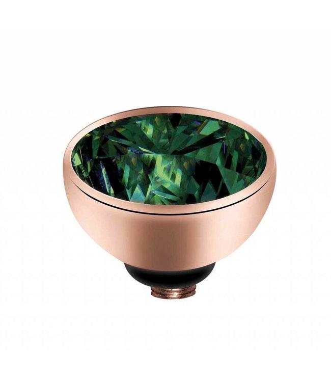Melano Zirkonium Olive - rosegoud zetting