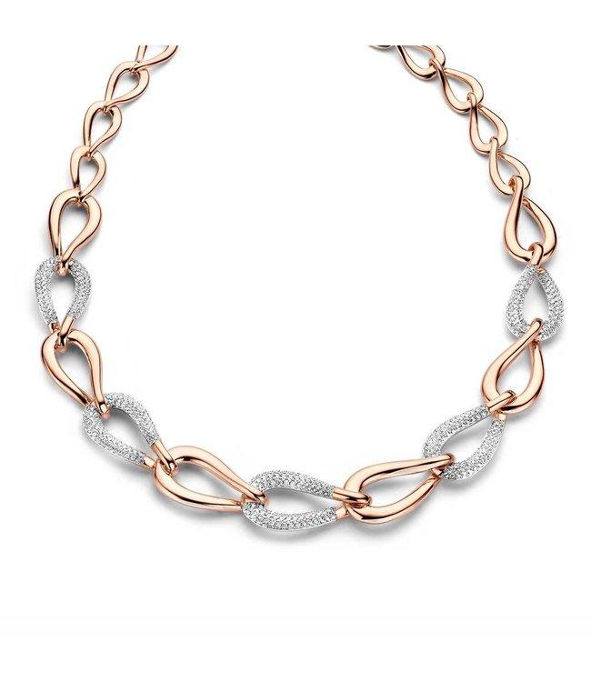 Silver Rose Halsketting Filine
