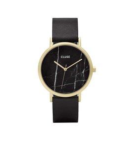 Cluse Uurwerk La Roche Gold Black Marble/Black