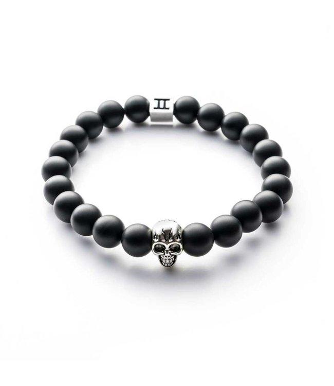 Gemini Armband Skull Mat Black