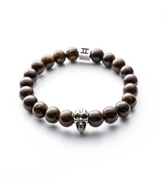 Gemini Armband Skull Brown