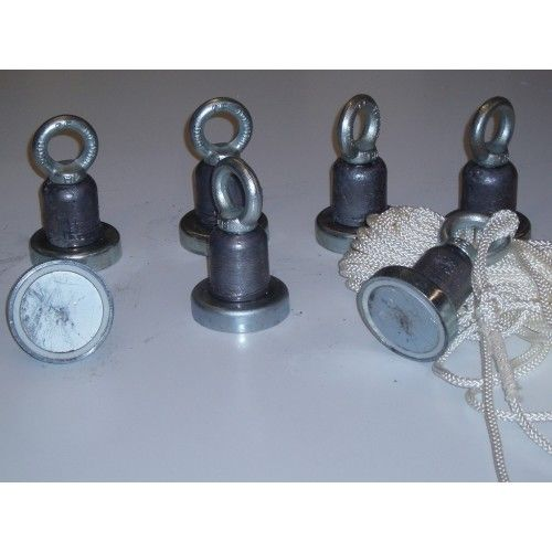 Magneten 160 KG met 25 meter touw wisselmagneet