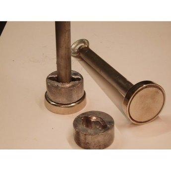 Magneten Staafmagneet 160 KG met lood verzwaring en 25 meter touw