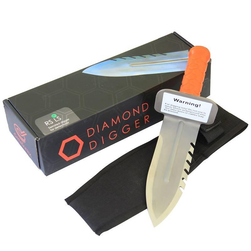 Deteknix Diamond digging tool, handig hulpje geschikt voor weilanden, parken, stort. strand etc