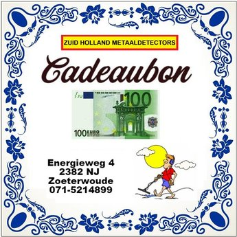 Zuid Holland Metaaldetectors Cadeaubon 100 euro