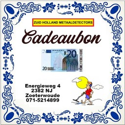 Zuid Holland Metaaldetectors Cadeaubon 20 euro