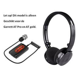 Deteknix Draadloze hoofdtelefoon met Garrett AT Pro en Gold plug, gratis aangepast beschermhoesje WS3