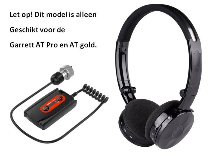 Deteknix Draadloze hoofdtelefoon met Garrett AT Pro en Gold plug, gratis display module beschermhoes WS 3