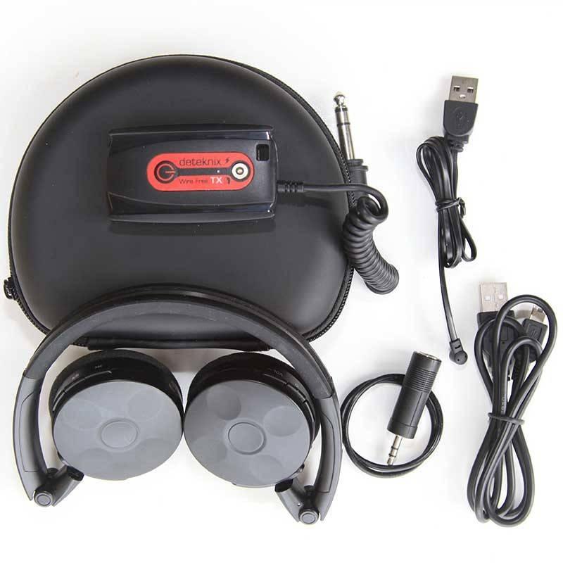 Deteknix Draadloze hoofdtelefoon met 6 mm verloopplug en GRATIS aangepast beschermhoesje WS3