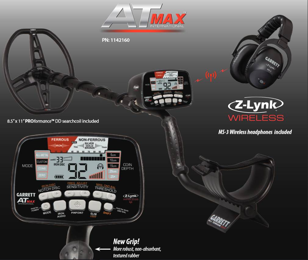 Garrett  AT Max nieuwste model  ook onderwater + pointer gratis.