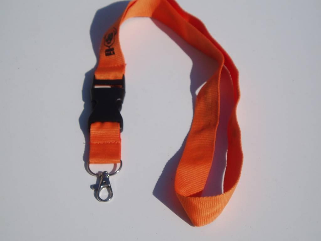 Sleuteldrager, oranje. met snel koppel sluiting voor kinderen