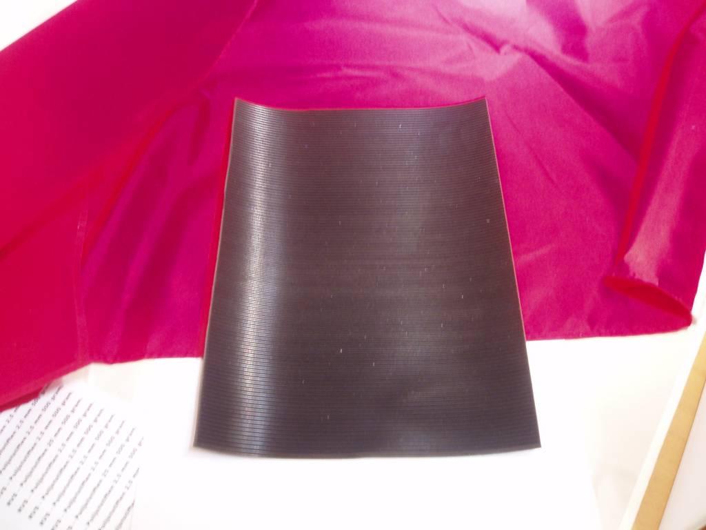 Rubber riffel mat voor sluisbox