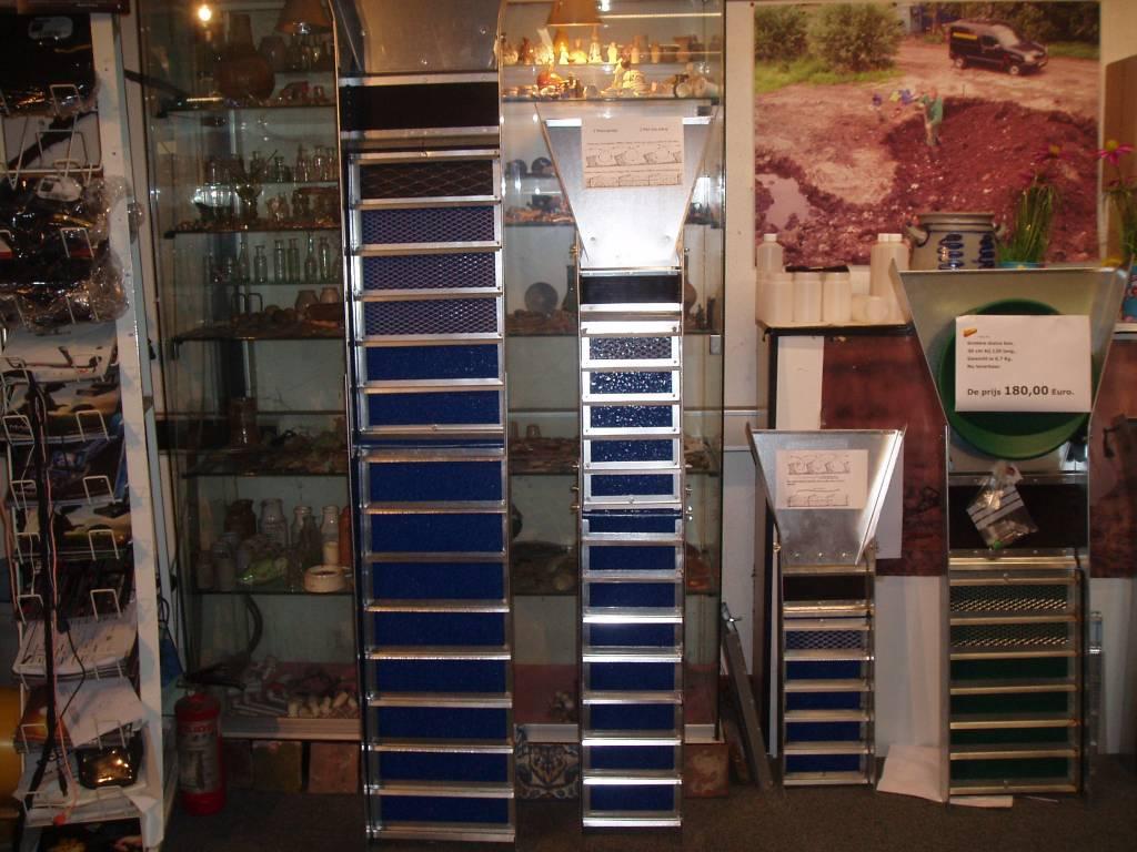 goud zoeken Verlengde sluisbox v. waterpompen sluicebox