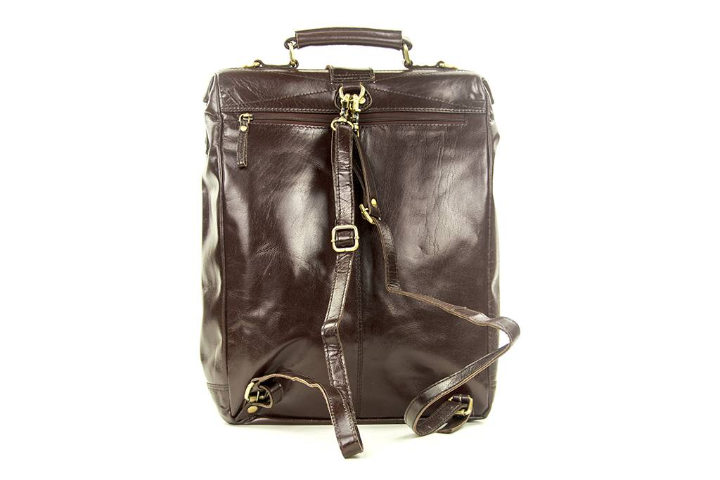 Leather Design CHARLES Coffee-brown