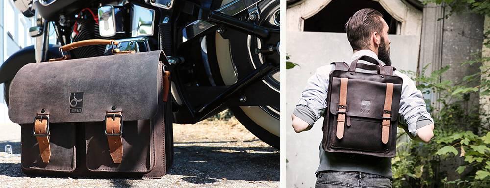 Voor als het echt stoer moet zijn: de biker bag-collectie