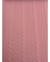 cable textured knit fabric - pink