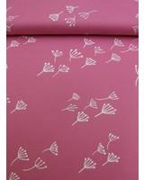 interlock knit - blow flower pink
