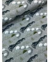 tricot grijsgroen - ijsberen