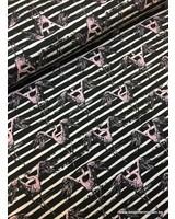 stretchkatoen KNIPPIE - flamingo's