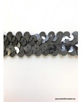 stretch sequin grey 2 cm