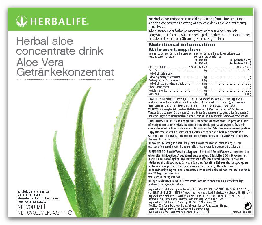 Herbalife Aloe Vera Getränkekonzentrat - 473ml