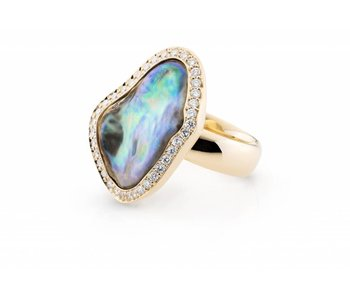Natural Abalone pearl ring