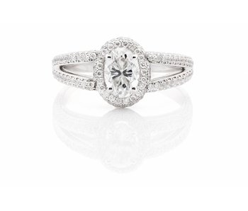 Platina ring met 1,6ct diamanten