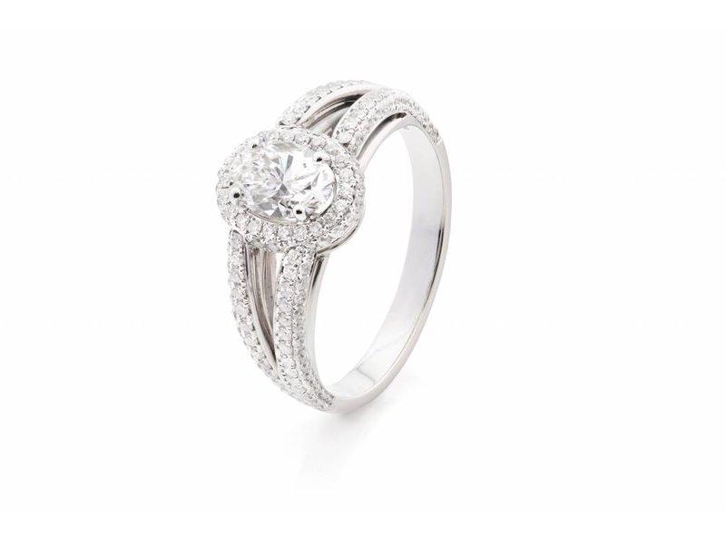 Platina ring met 1,6ct diamanten