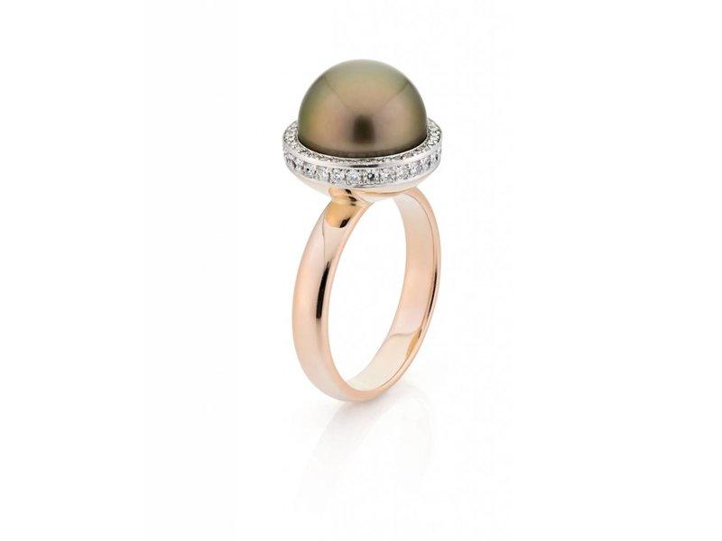Tahiti parel ring met diamant