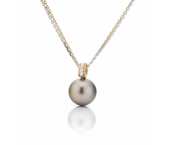 Tahitian pearl and diamonds pendant