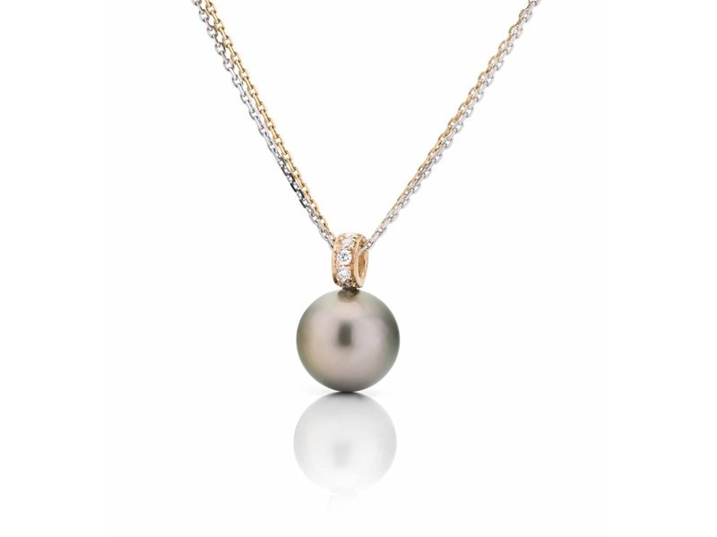 Tahitian pearl and diamonds pendant