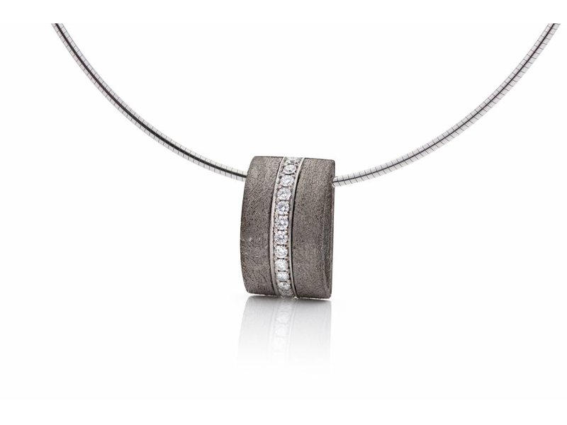 Meteorite goud en diamant hanger
