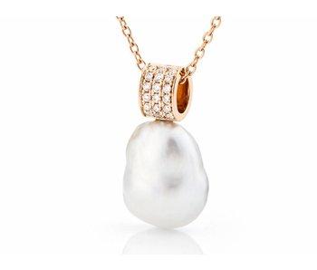 white tahitian keshi pearl pendant